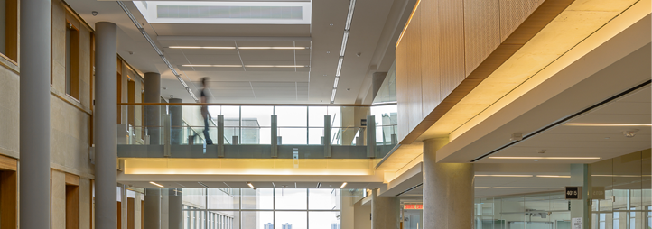 Interior view of the Social Sciences Building, uOttawa