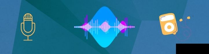 headset, microphone and radio waves icons