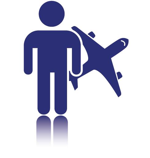 voyageur avec avion