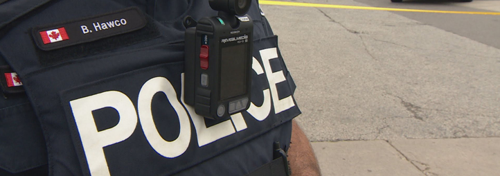 Body-worn camera on a policeman