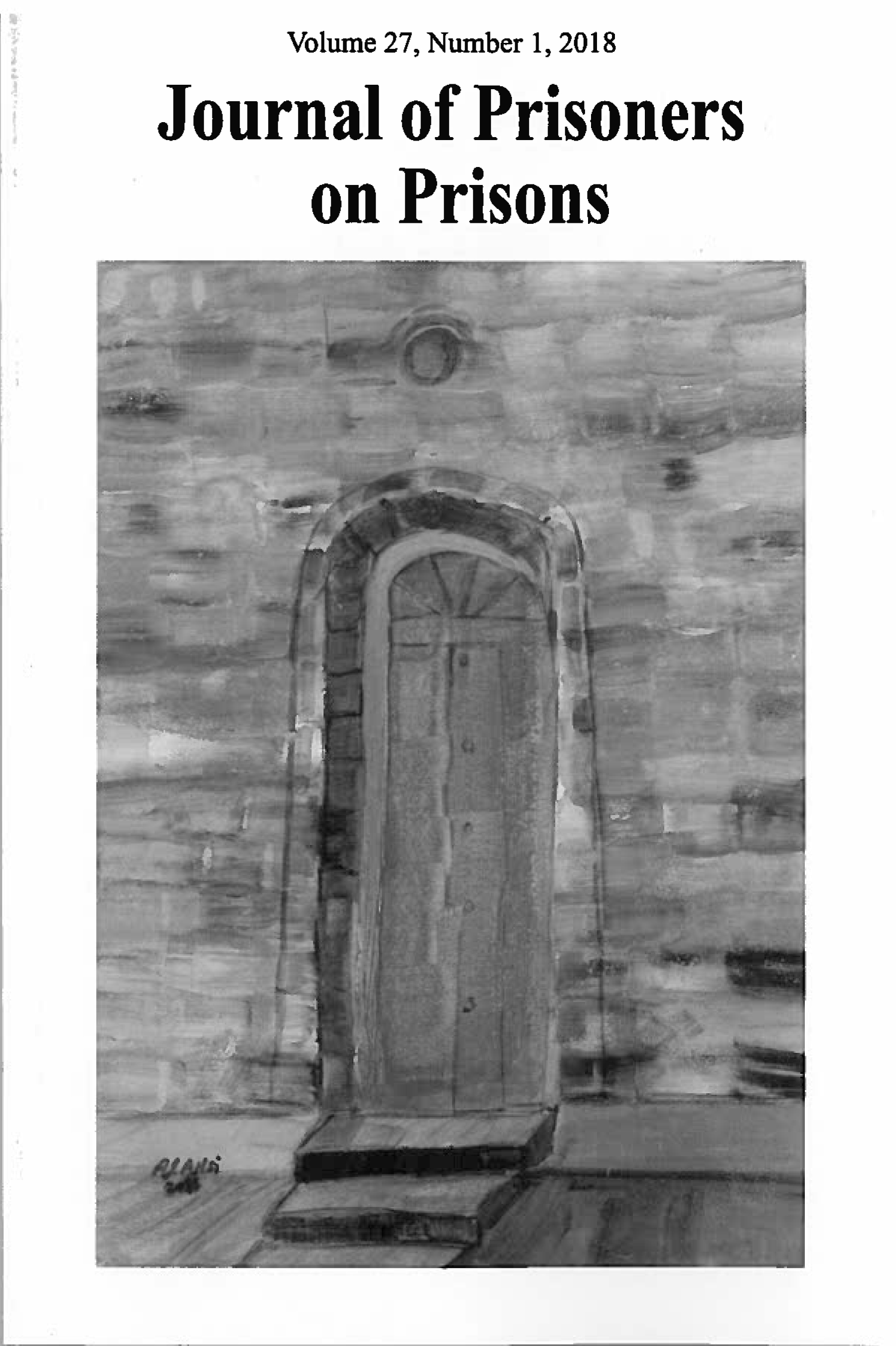 Book cover illustrating a door