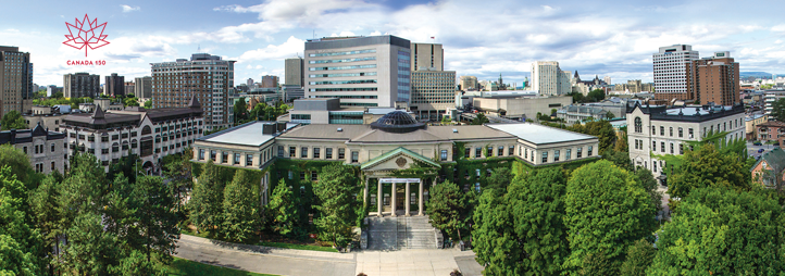 Exterior view of the Univerity of Ottawa campus