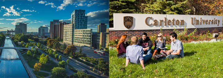 uOttawa buildings and Carletong University