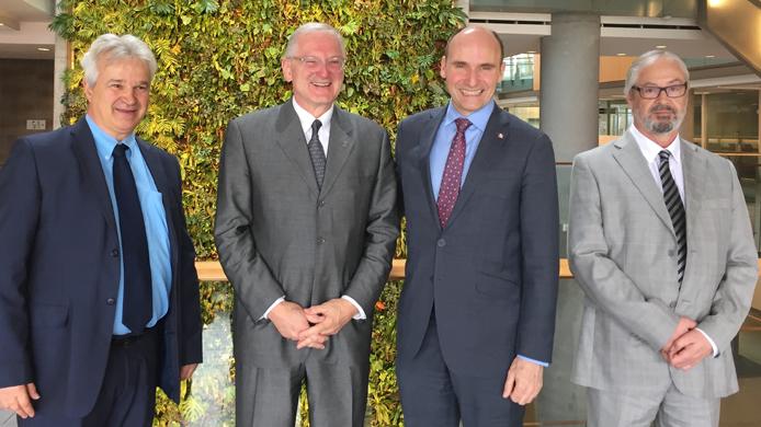Marcel Mérette, Jacquest Frémont, Jean-Yves Duclos, Maurice Lévesque