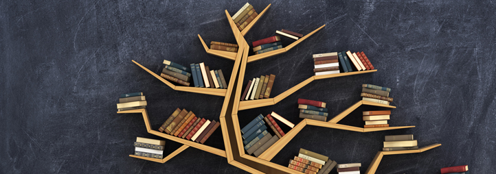 bookshelf in the shape of a tree