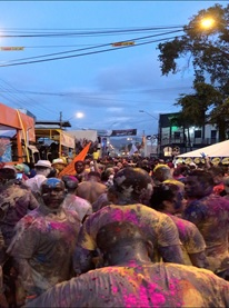 Picture of crowd during Carnaval