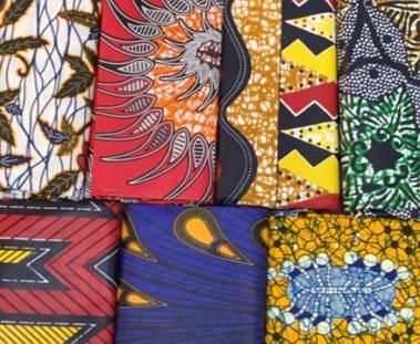 photo de divers tissus au Malawi