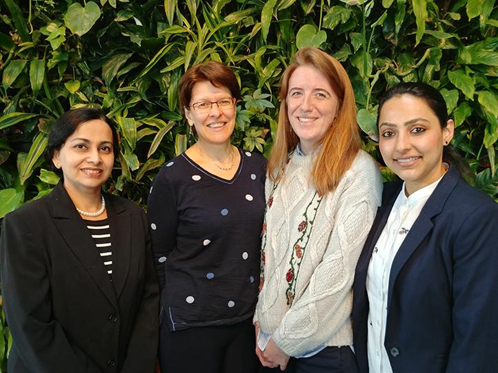 Ishrat Jahan Ahmed, Dominique Masson, Full professor and supervisor of graduate studies, Charlotte Dahin and Harpreet Kaur Gill