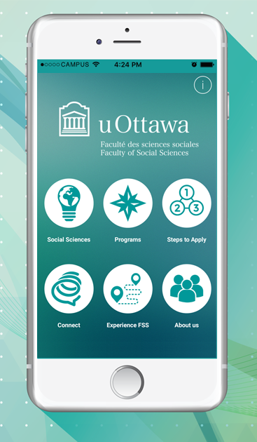 uOttawa FSS App home screen on white iphone