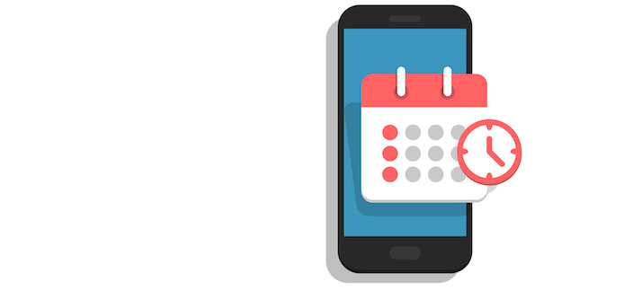 cell phone and calendar