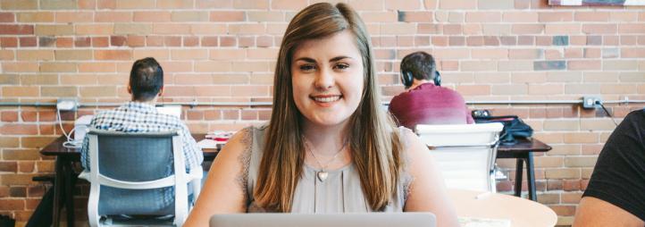 Undergraduate smiling female student