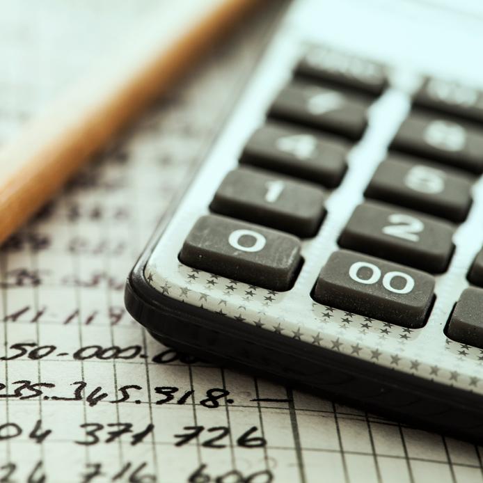 Calculator and lead pencil