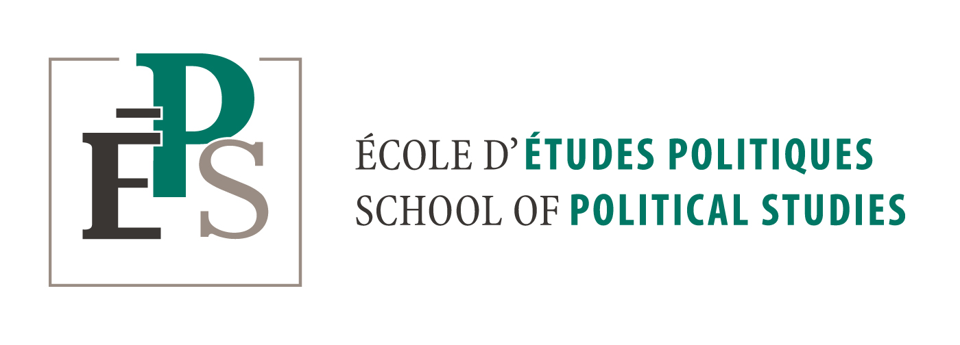 École d'études politiques écrites en trois différente couleurs telles que le noir, le gris, et le vert