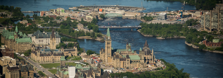 Aerial view of Ottawa