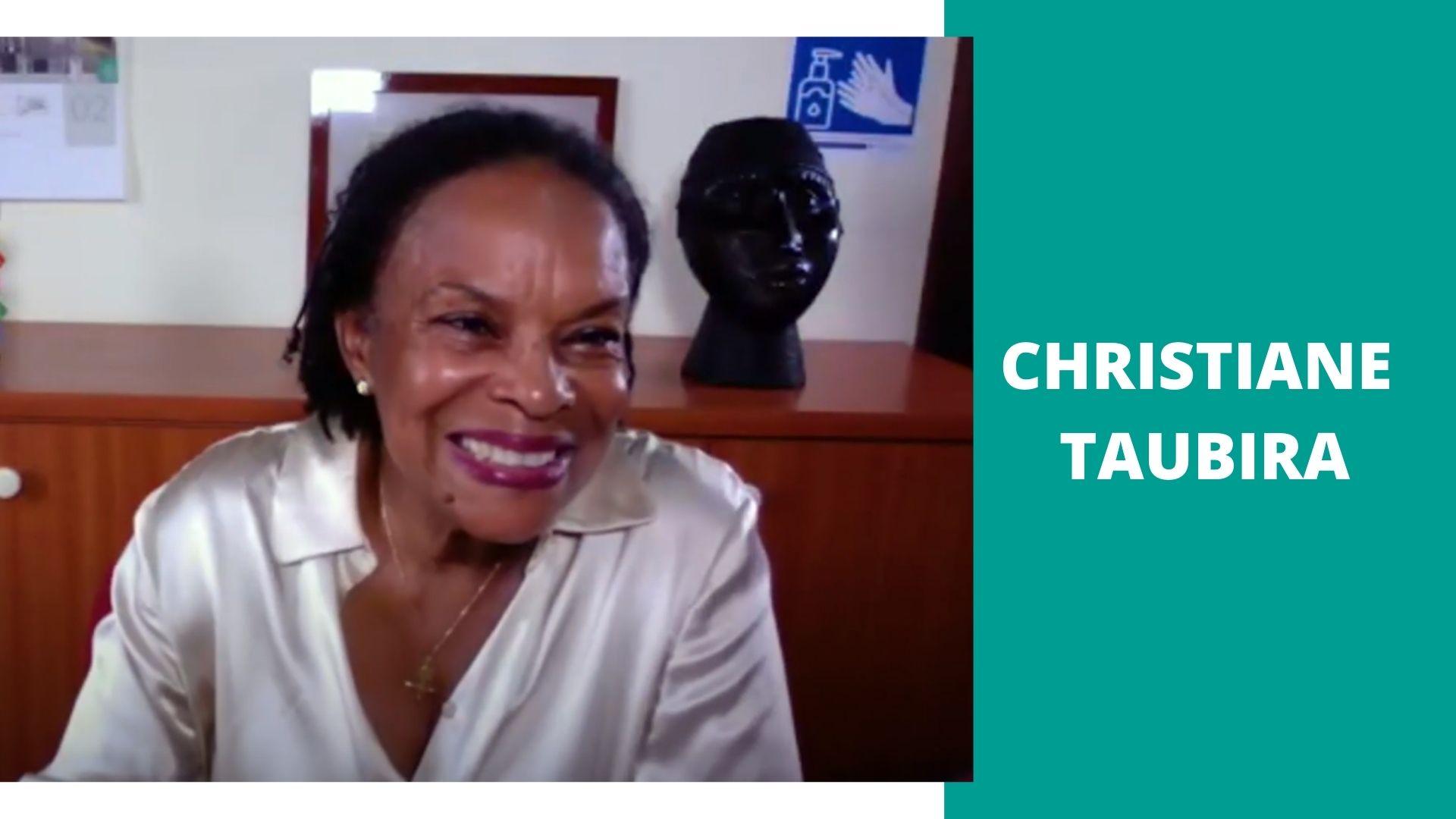 A portrait picture of Christiane Taubira