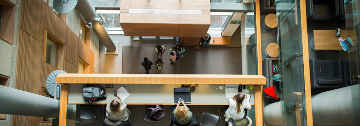 Interior view of the Social Sciences Building, University of Ottawa