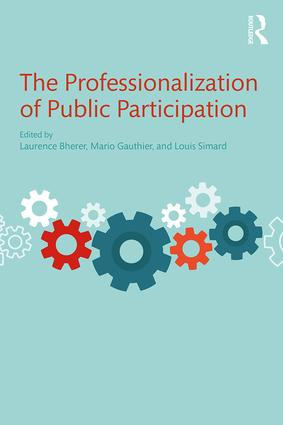 Book cover : The Professionalization of Public Participation