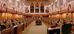 Inside the chamber of the House of Commons