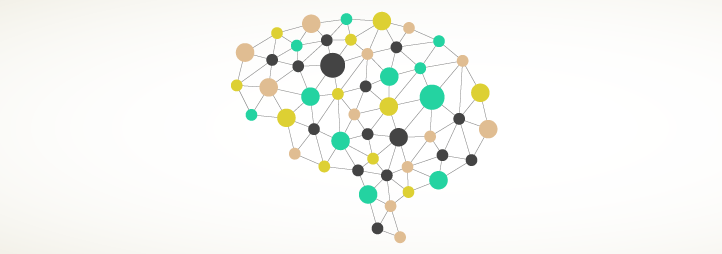 Dots connecting to form a brain