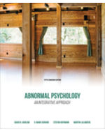 Book cover : Abnormal Psychology: An Integrative Approach, 5th Edition