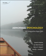 Book cover : Abnormal Psychology: An Integrative Approach, 4th Edition