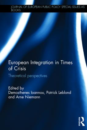 Book cover:  European Integration in Times of Crisis: Theoretical perspectives