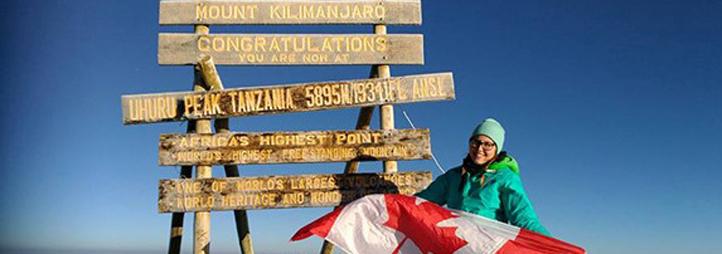 Robin Green on Mount Kilimanjaro
