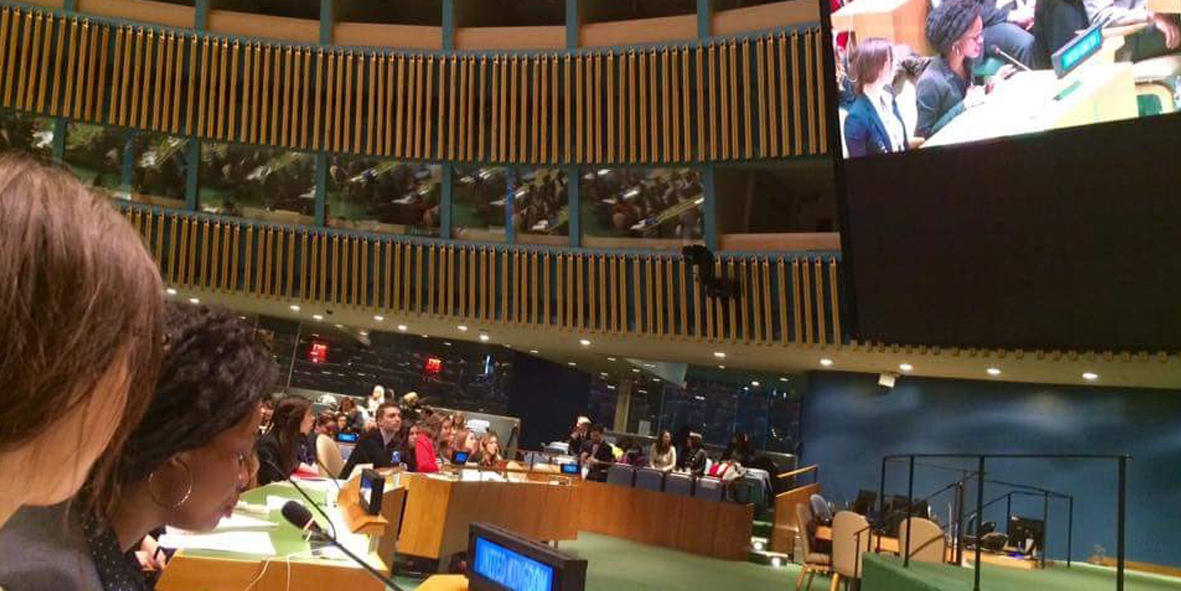 Inside the United Nations in New York City, view of the competition