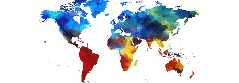 Coloful map of the world