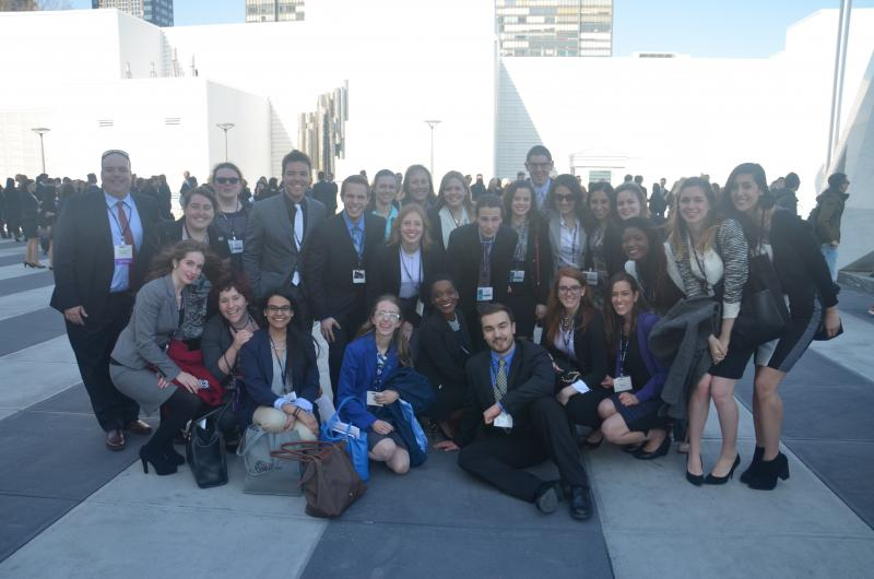 délégation étudiante qui a participéen 2015 à la simulation internationale des Nations Unies à New York