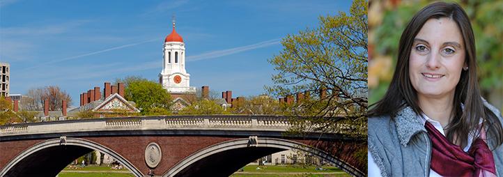 Elke Winter and landscape of Harvard