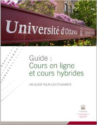 Guide étudiant cours en ligne et cours hybrides, Université d'Ottawa