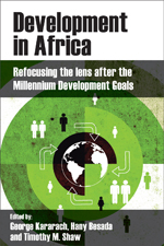 Book cover : Development in Africa: refocusing the lens after the millennium development goals
