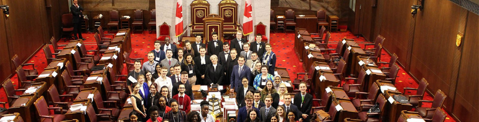 Group of Students at the Senate in Ottawa
