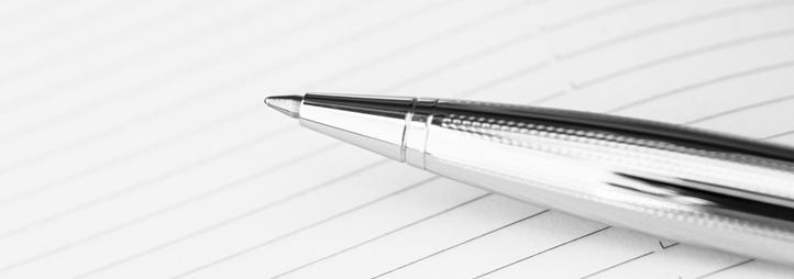 pen on paper