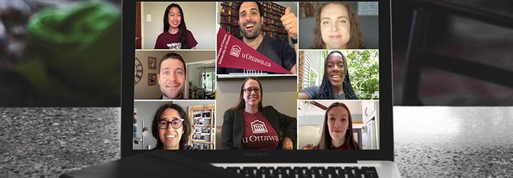 screenshot of uOttawa mentors during a live webinar