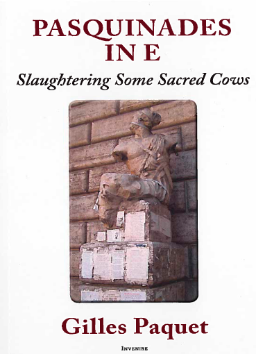 Book cover: Pasquinades in E: Slaughtering Some Sacred Cows