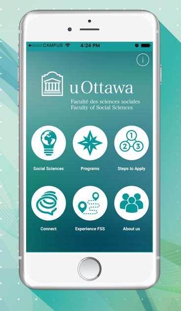 uOttawa FSS App home screen on white iphone