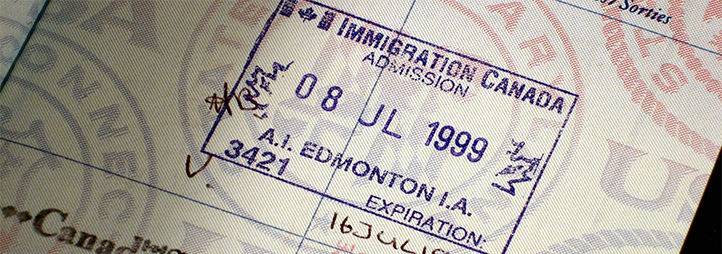 Canadian passport stamps