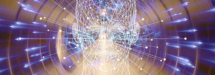 Head in front of lights