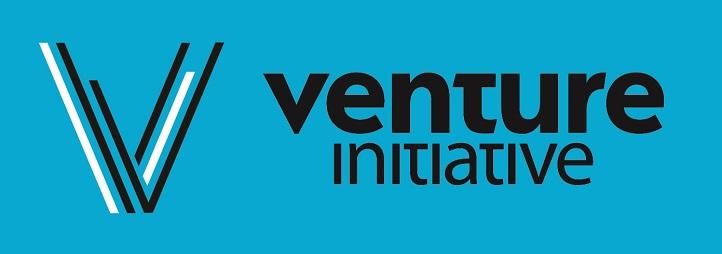 Initiative Venture written on a blue background
