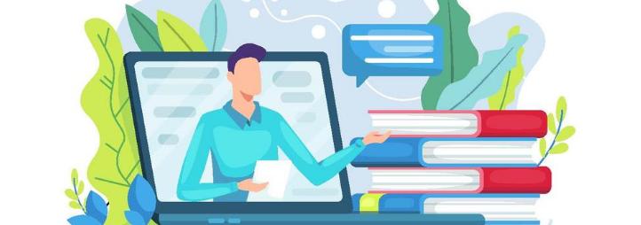 Virtual student service illustration