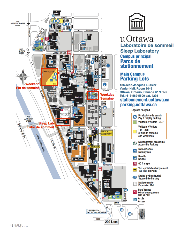 University Of Ottawa Map Directions | Sleep Research Laboratory | University of Ottawa