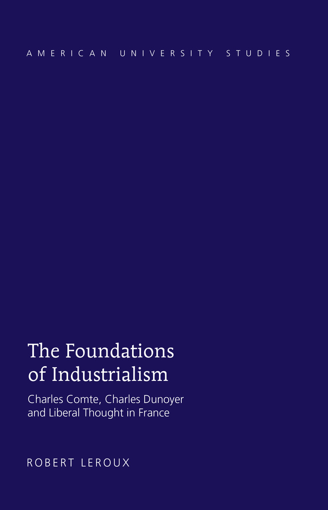 Book cover : The Foundations of Industrialism